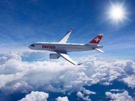 A SWISS flottájában repül elsőként az új CSeries repülőgéptípus