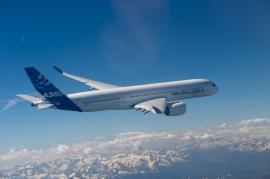 Az A350XWB szűzfelszállása