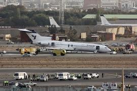Orrfutó nélkül landolt az Iran Air B 727-ese