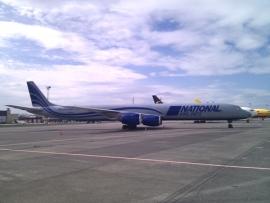 DC-8-as látogatott Ferihegyre