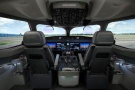 Bemutatták Dubaiban a CSeries pilótafülke modelljét