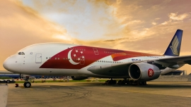 Jubileumi Singapore Airlines A380-as festés