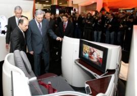 Új ülések a Qatar Boeingjein