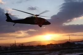 Helikopteres felkészítésen