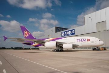 A Thai első A380-asa kigördült a festőműhelyből