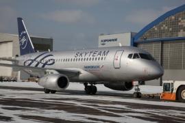 SkyTeam festésű a legújabb Aeroflot SuperJet 100-as