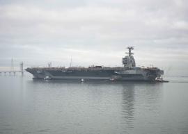 Elektromos repülőgépkatapultot tesztelnek a USS Gerald R. Ford hordozó fedélzetén