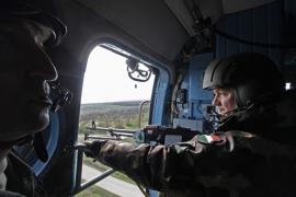 Konvoj elleni támadást hárítottak el a helikopterek a gyakorlaton