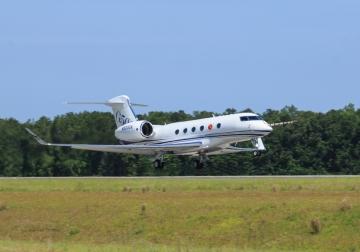 A Gulfstream G500-as szűzfelszállása