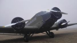 """Elment Budaörsről a svájci Ju-Air old timer Ju–52-es """"Tante"""" gépe"""