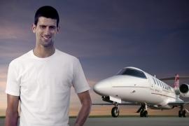 Novak Djokovic világelső teniszező a Learjet új utazó nagykövete