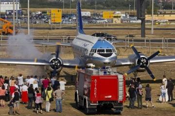 Il-14-es repülőgép motorindítás